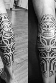 部落图腾纹身 多款简单线条纹身素描部落图腾纹身图案