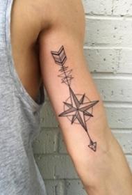 箭头纹身 多款简单线条纹身彩色箭头纹身图案