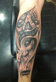 黑灰纹身 男生手臂上黑灰纹身图片