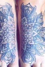 梵花纹身 女生脚部梵花纹身图片