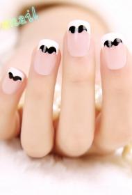 唯美美甲 小胡子指甲