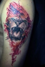 狮子王纹身  风格霸气的狮子王纹身图案