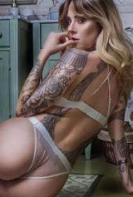 个性欧美美女纹身图片