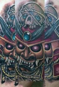 日本武士纹身  多款彩绘的日本武士纹身图案