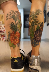 纹身腿上图案  个性十足的腿上纹身图案