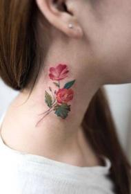 纹身图案花朵   清新却靓丽多彩的花朵纹身图案