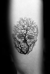 纹身树木的图像   郁郁葱葱的树木图像纹身图案