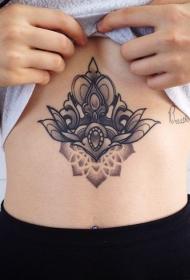 小动物纹身 彩色的女性腹部精致的小动物纹身图案