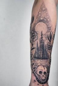 纹身黑色   抽象却又时尚的黑色纹身图案