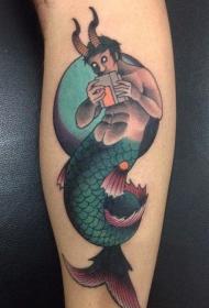 摩羯座纹身图案   形态各异的摩羯座纹身图案
