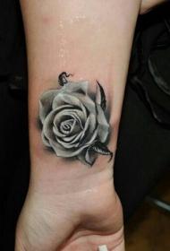玫瑰纹身图  娇艳欲滴的玫瑰花纹身图案