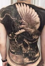 一组男性霸气满背纹身刺青图案图片
