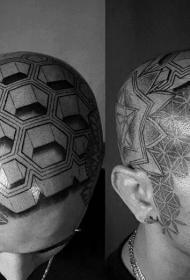 头部纹身图案   适合男生的头部纹身图案