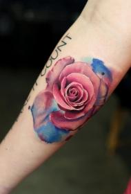 玫瑰纹身图    蓓蕾初开的玫瑰纹身图案
