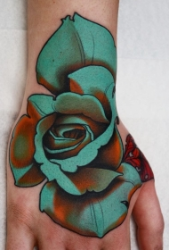 花朵纹身图案   多款彩绘纹身和素描纹身的花朵纹身图案