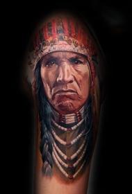 人物肖像纹身   风度翩翩的人物纹身图案