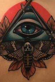 传统纹身图案    身体各个部位黑暗系纹身传统的花朵纹身