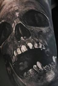 骷髅纹身图案-9张逼真的