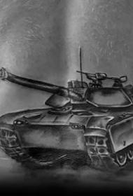 战争纹身图案-8张钢铁猛兽般的坦克纹身图案