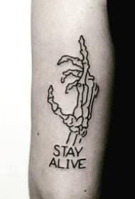 黑白素图纹身图案-9张创