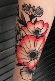 花朵纹身图案-20张身体