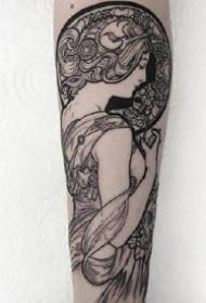 女人系列纹身图案-9张艺