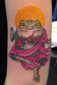 日式小青蛙纹身图案-9张可爱的日式小青蛙纹身图片