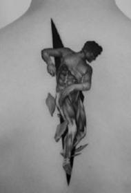 素描纹身图案-9张国外纹身师 Pawel lndulski的创意纹身图片