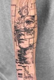 创意纹身图案-9张杯子人