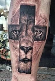 宗教人士喜欢的一组十字架纹身图片