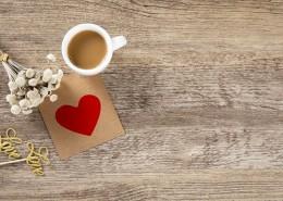 办公桌上的咖啡背景图片(8张)