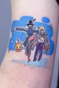 一组好看的蓝色纹身小纹身欣赏