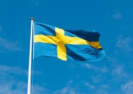 飘扬的瑞典国旗图片(12张)