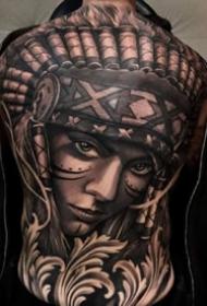 9张霸气的欧美写实大满背纹身图案