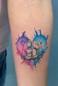 心形的创意一颗心纹身图片