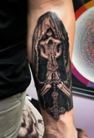 死神主题的一组纹身图案作品9张