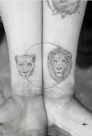 9张很好看的小清新情侣纹身图片