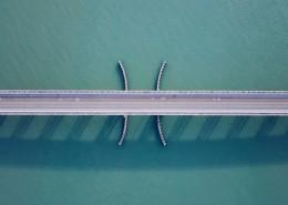 航拍桥梁图片(9张)