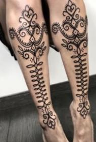 27组帅气的点刺梵花图腾纹身图案作品