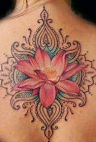 漂亮的一组莲花纹身图案赏析