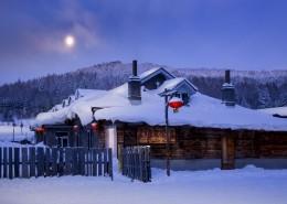 童话般的雪乡晨曦自然风景图片(9张)
