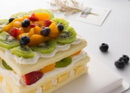 美味好吃的奶油水果蛋糕图片(9张)