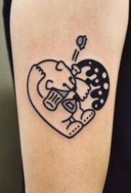 23组卡通的小可爱心形纹身图片