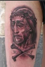 耶稣基督的9张宗教耶稣纹身图案