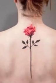 小清新的一组玫瑰花朵纹身图片赏析