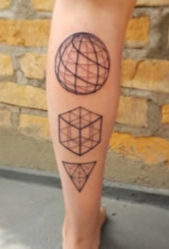 几何线性的一组创意图形纹身图案