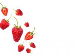 白色背景的草莓素材图片(12张)