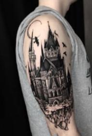 9组漂亮的黑灰小手臂纹身作品欣赏