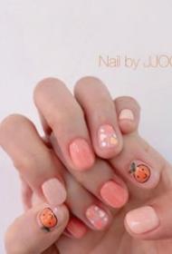 可爱的春季透明感美甲,很适合短指甲小仙女们