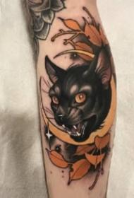 18组好看的猫咪纹身作品图片